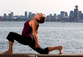 Lunge  With Yoga Mudra 1